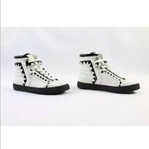 Sophia Webster Riko White Black High Top Sneaker